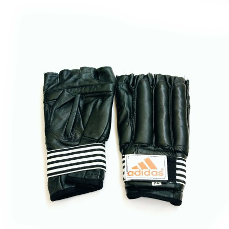 Adidas leather half gloves claws - دستکش نیم پنجه چرم کونگفو